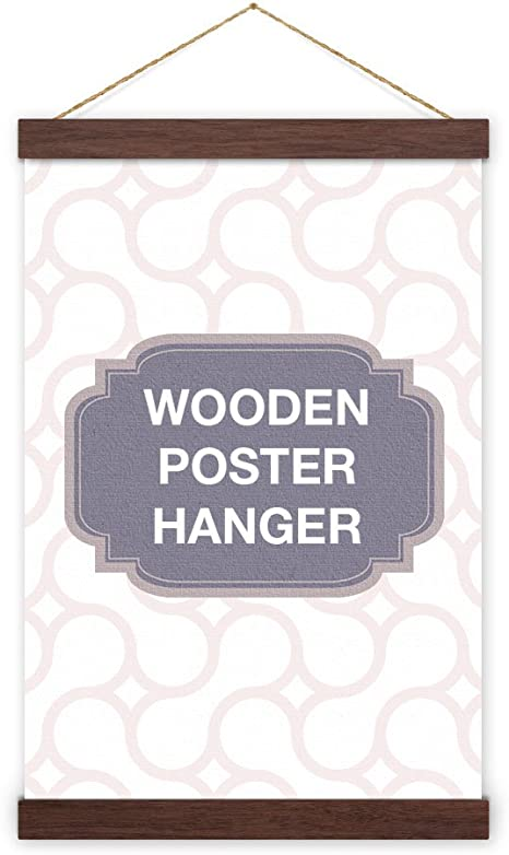 Print Display Oak Poster Hanger Print Hanger A3 or A4 Wooden Poster Hanger