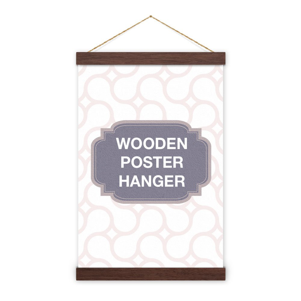 Non-Standard Size Walnut Wooden Poster Hanger - magnet self assembly (21 inch (53.34cm))