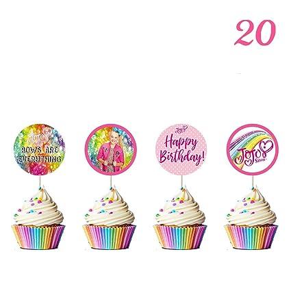 Jojo Decoración para tarta y cupcake, para fiesta, feliz ...