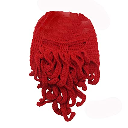 524ff6f4145 Amazon.com  Y-yan Wool Cap Creative and Funny Adapt to a Wide Range of  People Men and Women Gift Props (Color   Red)  Sports   Outdoors