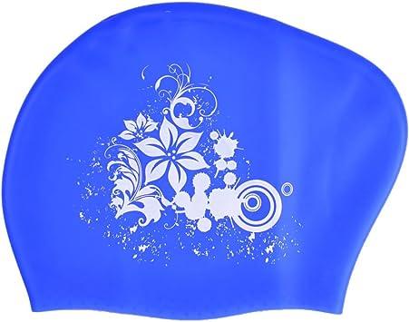RONHAN Gorro de natación Grande de Silicona para Adultos, Mujeres ...