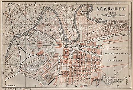 Aranjuez Antiguo Town City Ciudad Plan. España Mapa ...
