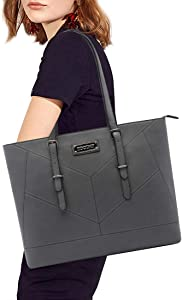 Laptop Tote Bag,13,14,15.6 Inch Business Laptop Bag,EDODAY Lightweight Laptop Tote Bag for Work Travel,Gray
