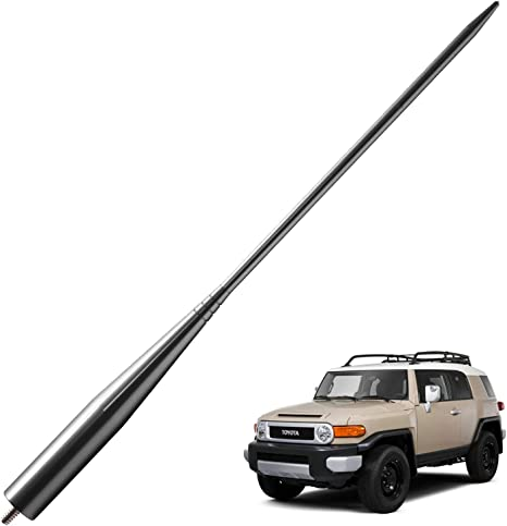JAPower Replacement Antenna Compatible with GMC Sierra 1999-2006 3 inches-Titanium