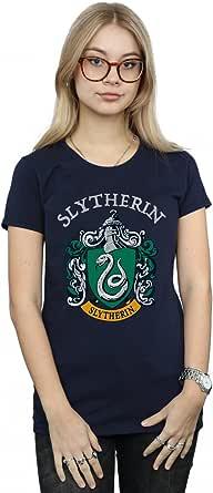 Harry Potter Mujer Slytherin Crest Camiseta