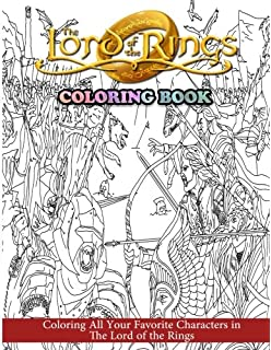 The Lord Of Rings Coloring Book All Your Favorite Characters In
