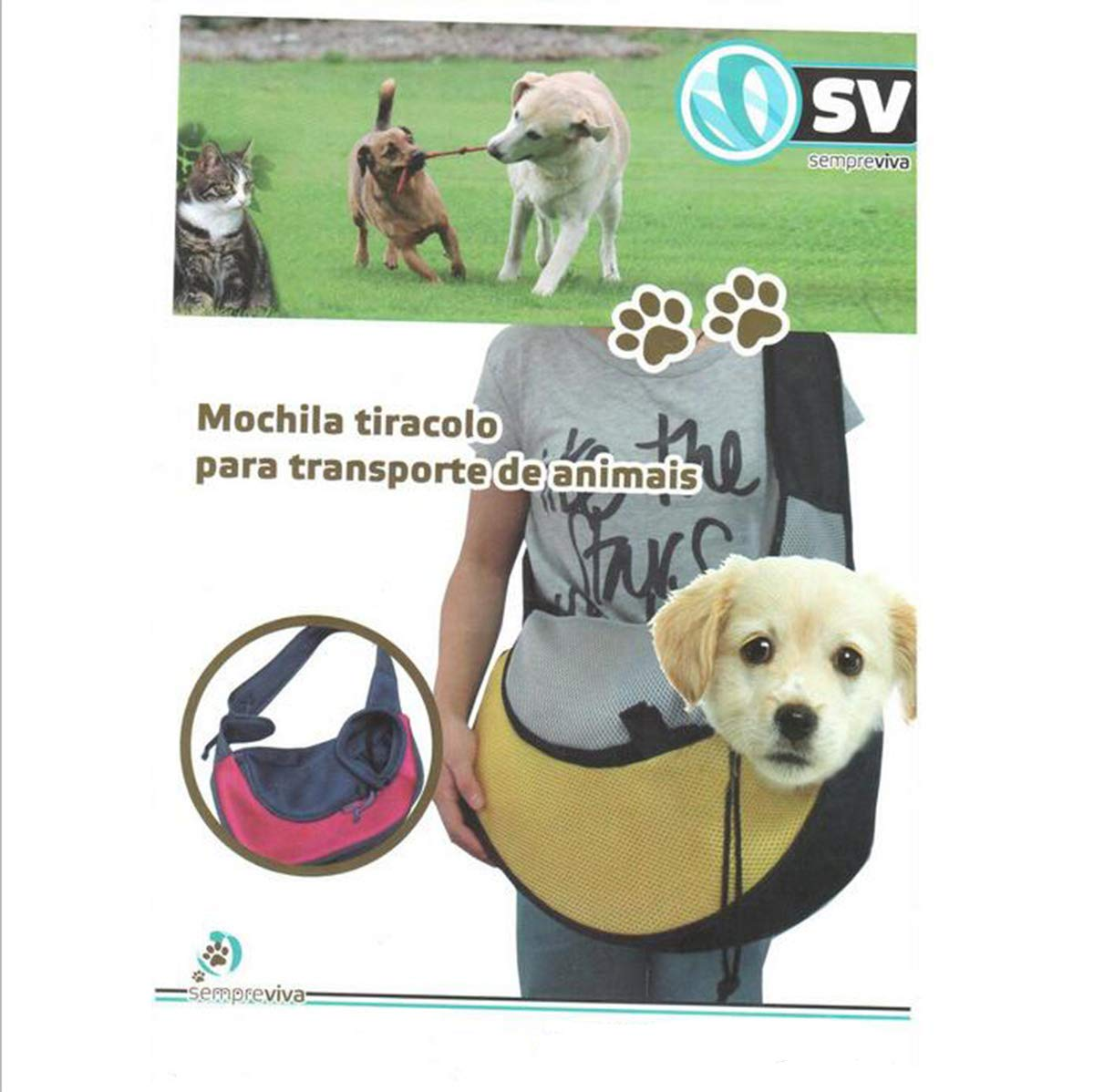 Amazon.com : ODALISQUE Pet Sling Carrier, Breathable Mesh Shoulder Sling Bag for Small Dogs Cats : Pet Supplies