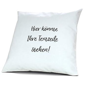 PrintPlanet®   Kissen Mit Eigenem Text Bedrucken   100% Baumwoll Kopfkissen  Selbst Gestalten Mit