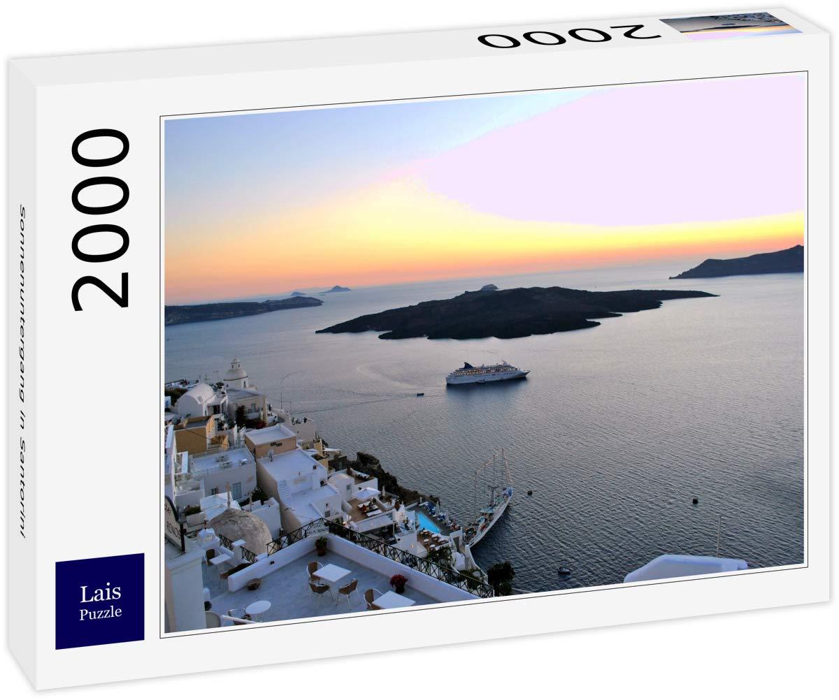 Lais Puzzle Atardecer en Santorini 2000 Piezas: Amazon.es ...
