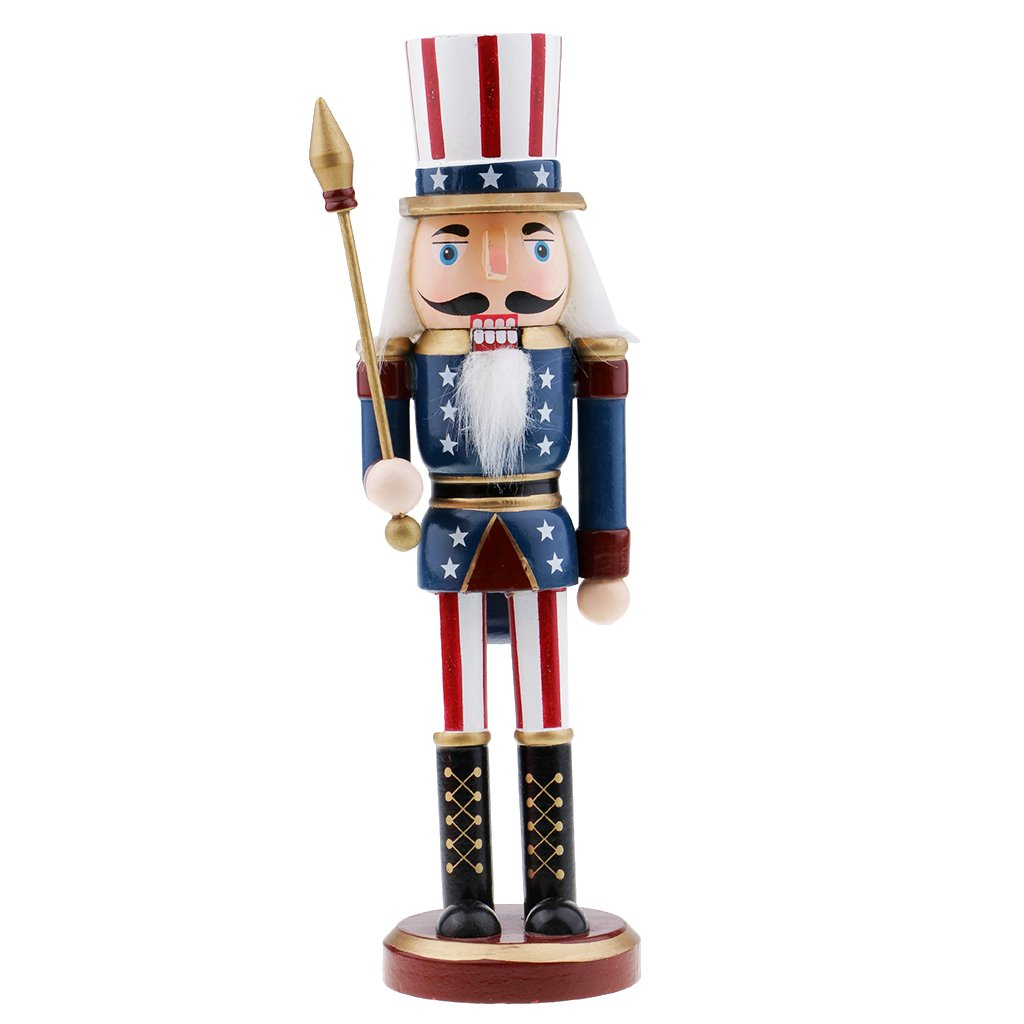 Baosity Novelty Nutcracker Puppet American Soldier Children for Home Party Christmas Table Decoration - #2