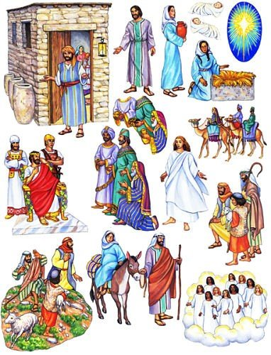 Story /& Life of Jesus 13 Bible Stories for Flannel Board You Cut Out Felt Figures