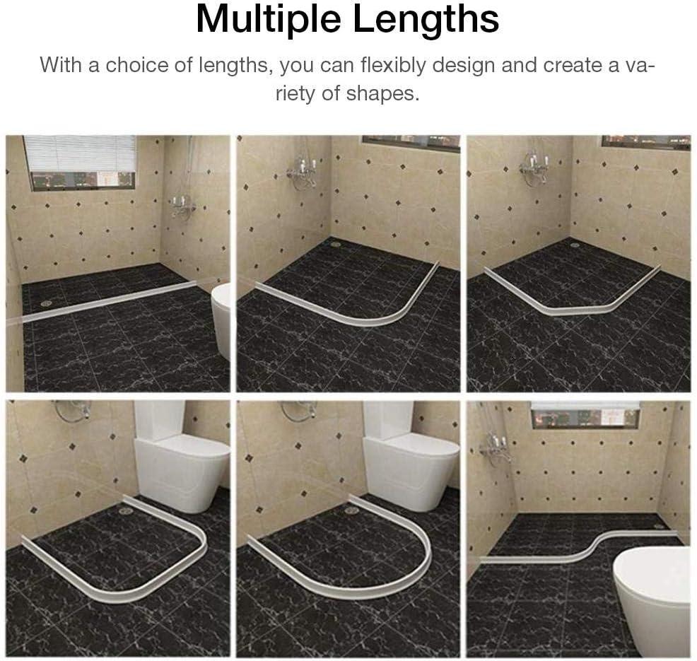 popchilli - Tiras Impermeables para Cuarto de baño, tapón de Caucho de Silicona, Tapa de separación de Agua para Ducha, fácil de Usar, 0,9 m: Amazon.es: Hogar
