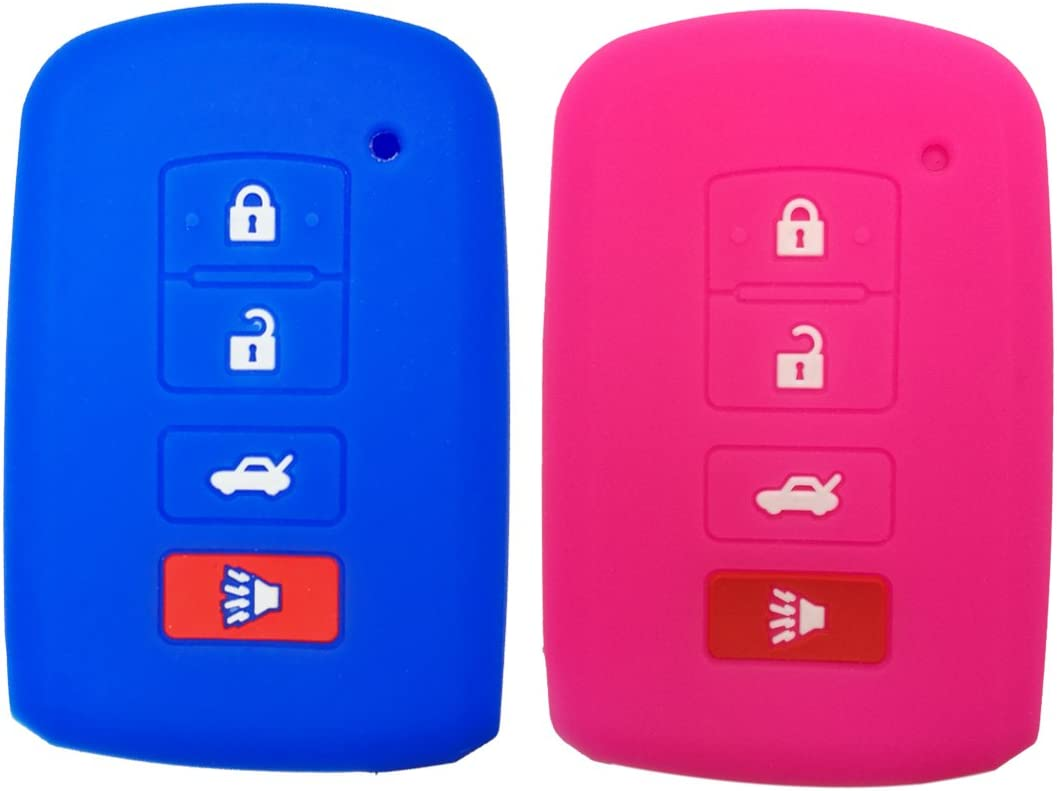 KeyGuardz Keyless Entry Remote Car Key Fob Outer Shell Cover Soft Rubber Protective Case for Toyota Camry Corolla Rav4 HYQ12BDM