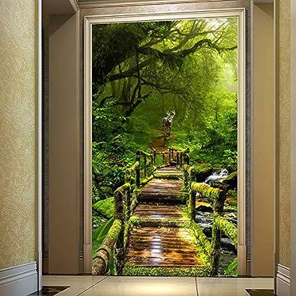 Photo 3D Papier Peint Vierge Forêt Bois Planche De Bois ...
