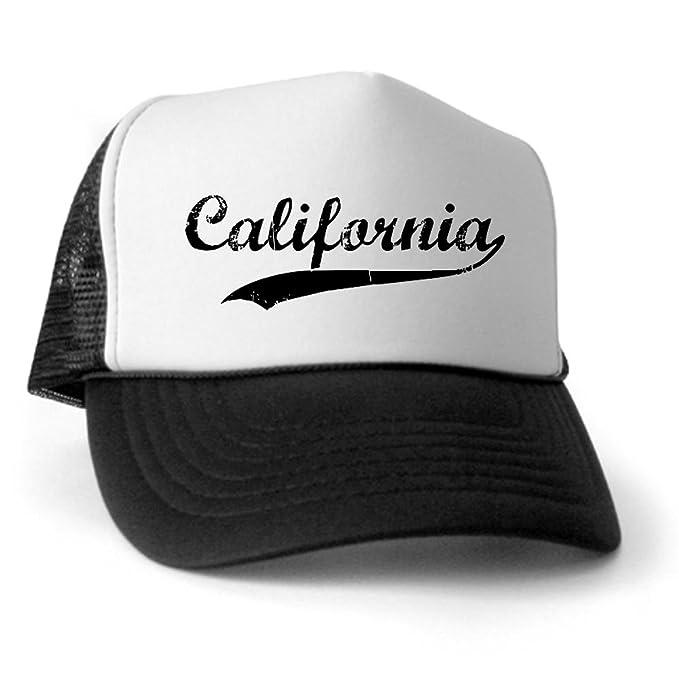 df392d42 Amazon.com: CafePress - Vintage California Trucker Hat - Trucker Hat,  Classic Baseball Hat, Unique Trucker Cap Black/White: Clothing