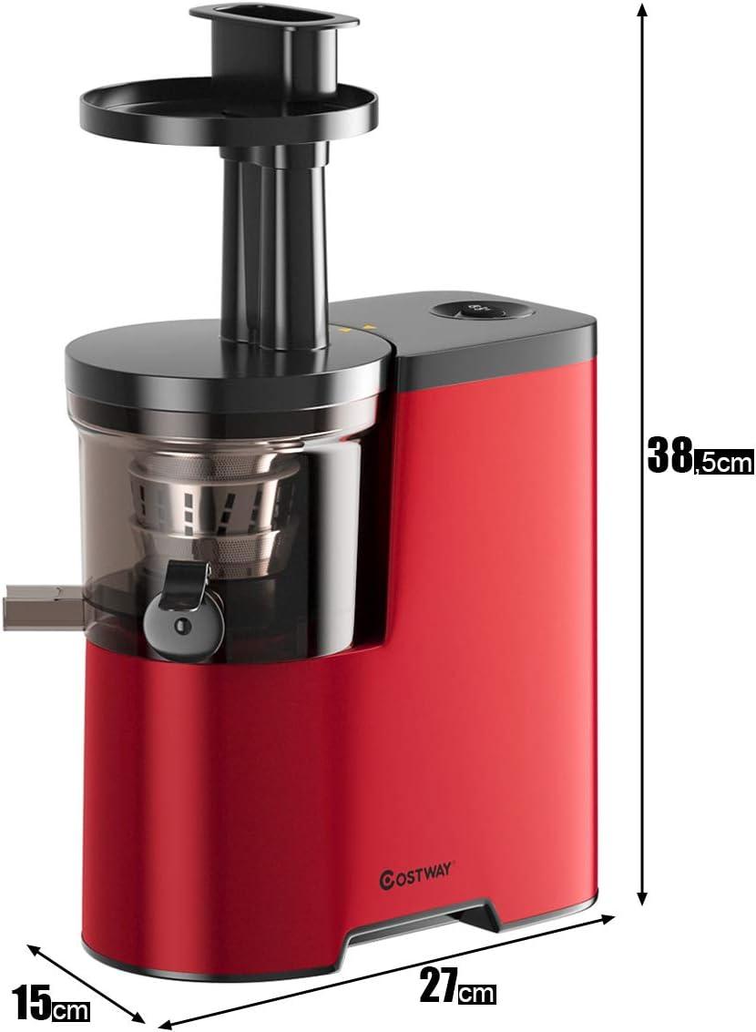 COSTWAY Entsafter Elektrische Saftpresse Slow Juicer, 150W