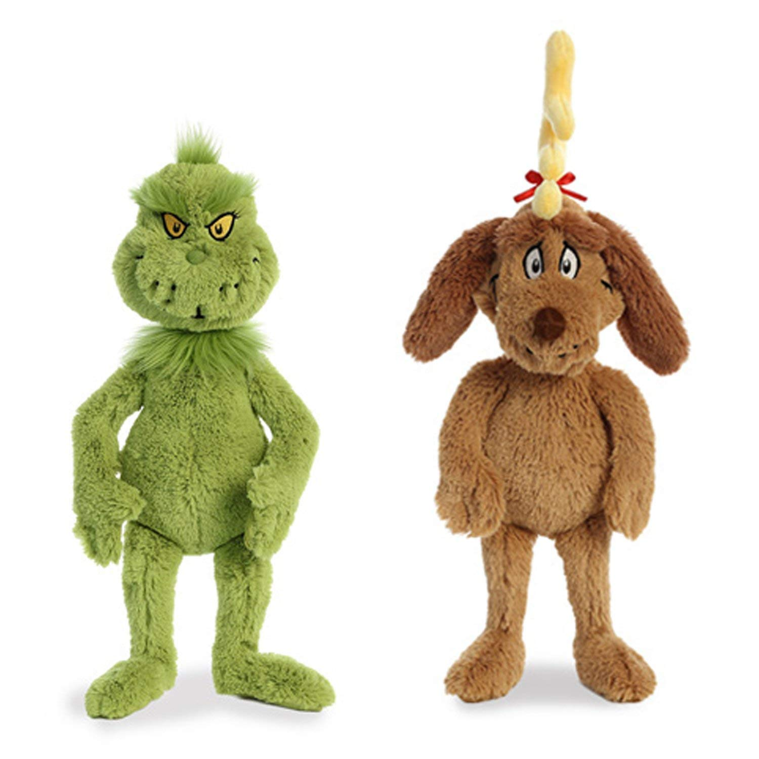 and 18 Max with Antler 18 Grinch and 18 Max with Antler SG/_B07F8F1377/_US Aurora World Plush Bundle of 2 18 Grinch