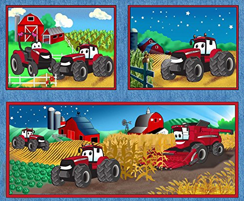 Fabrique CASE IH COTTON PILLOW PANEL-CASE INTERNATIONAL H...