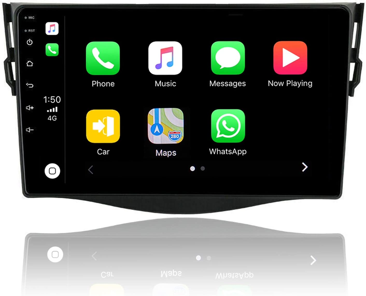 ViaBecs 9 inch Android 10.0 Head Unit Apple Carplay Audio for Toyota RAV 4 RAV4 2006-2012 Car Stereo Bluetooth 5.0 4GB 64GB DSP Support Handsfree Calling Android Auto GPS SWC Split Screen