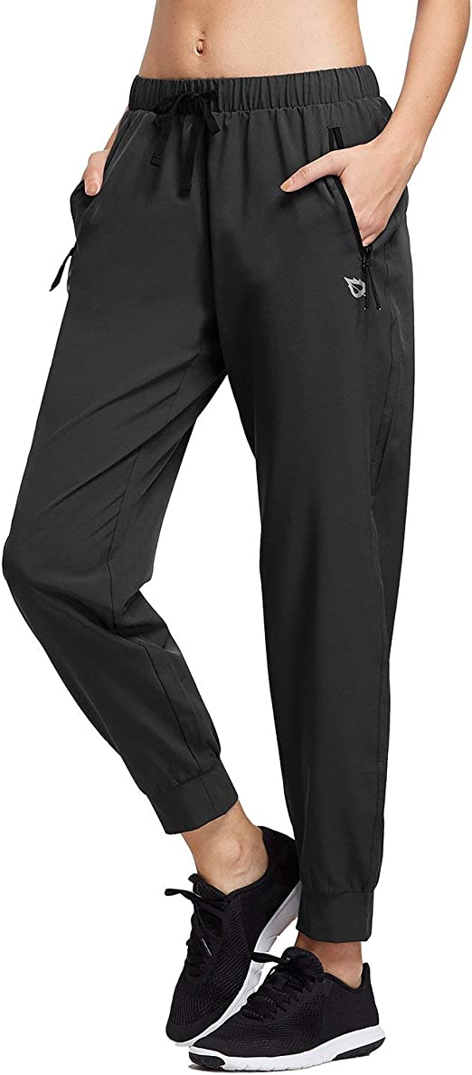 Ancient Star Mens Hiking Joggers Sweatpants Light Breathable Quick Dry Running Sports Pants with Zipper Pockets