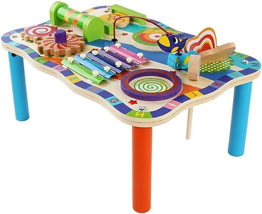 ZYN Juguetes preescolares Infantiles Mesa multifunción de Estudio para bebés Mesa de Juegos para bebés Bloques de construcción L44 × W29.5 × H18.5cm: Amazon.es: Hogar