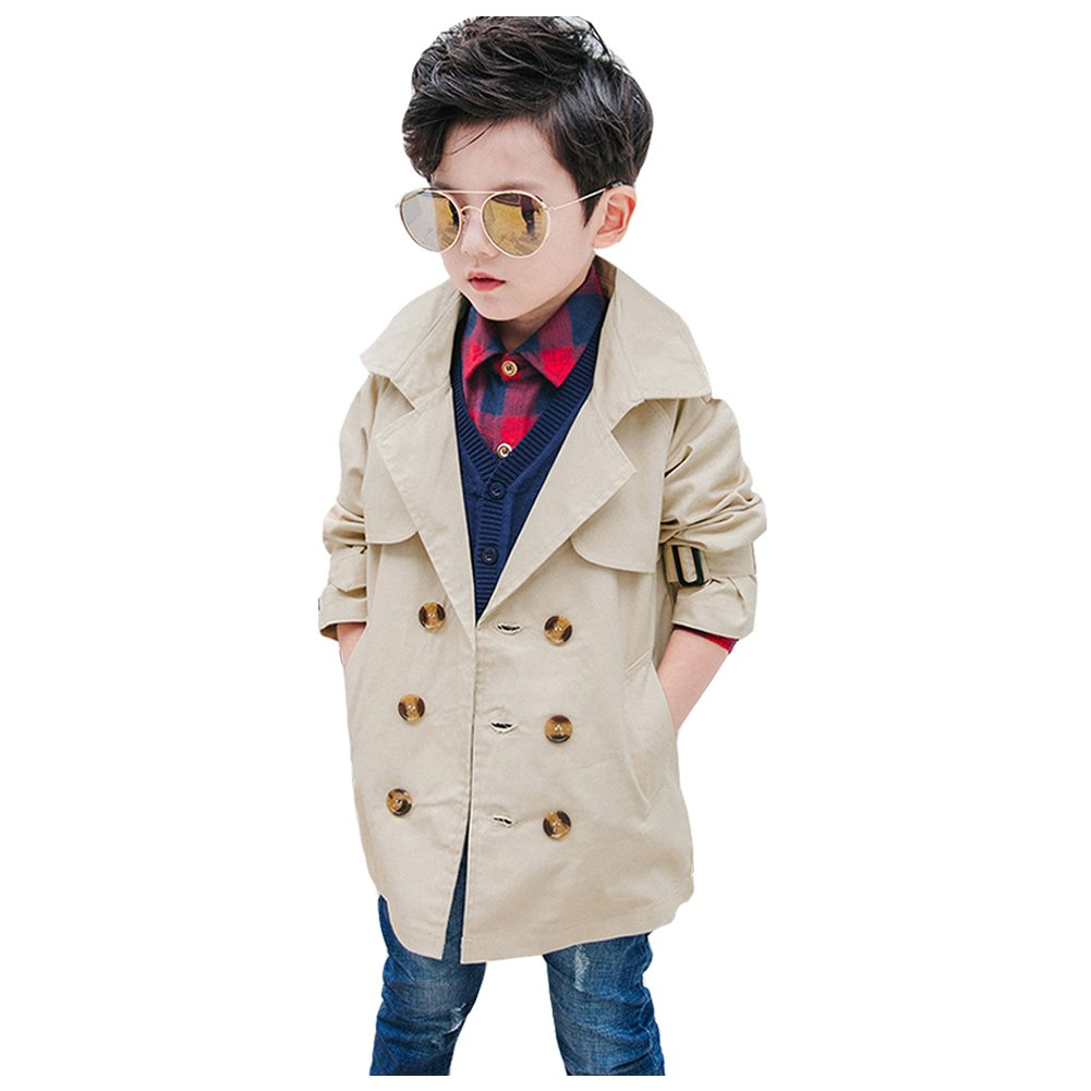 Boys Wind Trench Coat Double Breasted for Kids CSF2710
