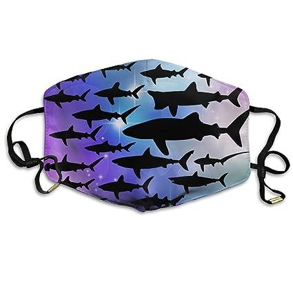 Océano Tiburón flores mar peces boca máscaras, adulto Amazing reutilizable motocicleta anti polvo cara boca