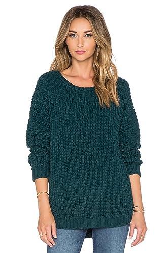 WanYang Mujeres Suelto Suéter Tejido Prendas De Punto Suéter Loose Pullover Jerseys Manga Larga