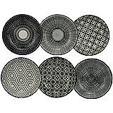 Ard'time-EC 6KOCOUPRD Komae-Set di 6 Ciotole in Ceramica Rotonda, 9,3 x 9,3 x 2,5 cm