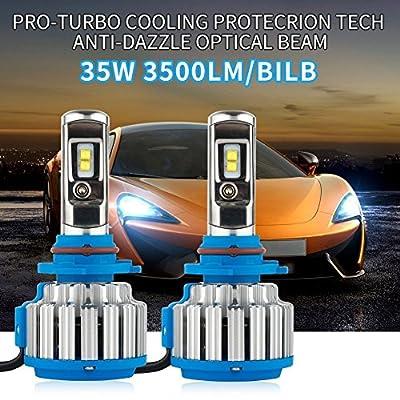 Chylay H1 H3 H11 H8 H9 9005 HB3 9006 HB4 H7 led Headlight Bulb H4 hi/lo beam Conversion Kit for cars 70W 7000LM 6000k White Bulb Automotives Headlight Fog lamp