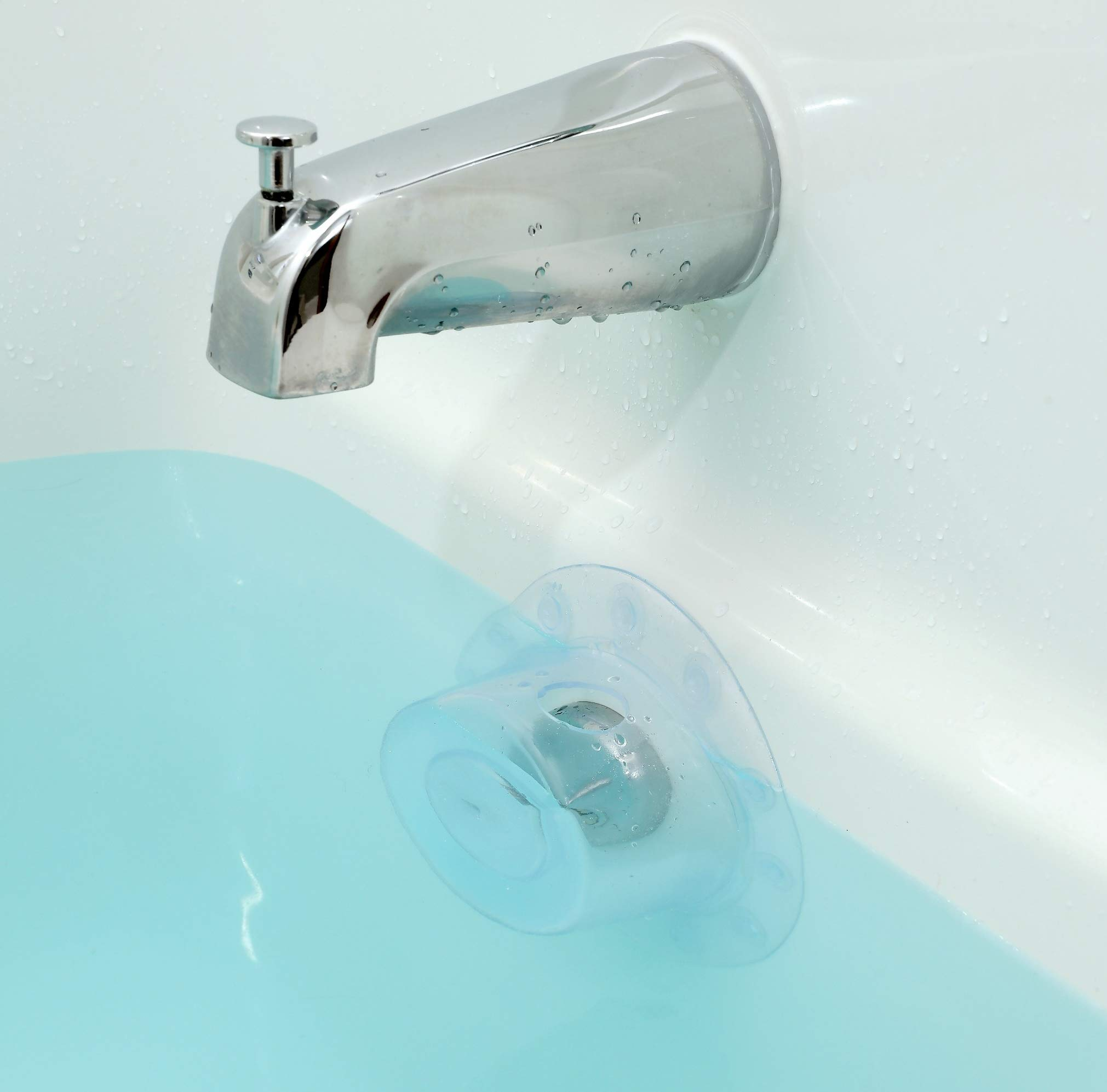 Amazon.com : OXO Tot Silicone Tub Drain Stopper- Aqua : Bathtub ...