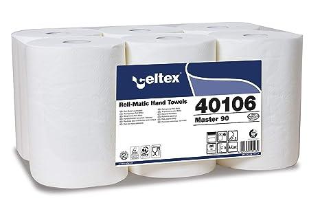 MASTER 90 Lote de 6 rollos, toallas de papel de 90 m, triple velo
