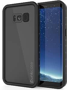 PunkCase Galaxy S8 Waterproof Case, [Studstar Series] [Slim Fit] [Ip68 Certified] [Shockproof] [Dirtproof] [Snowproof] Armor Cover for Samsung Galaxy S8 [Black]