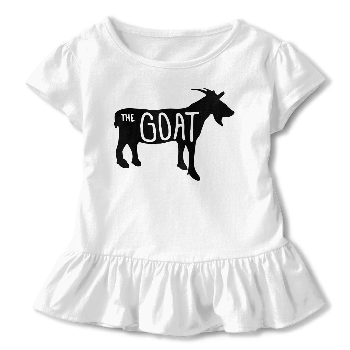 SHIRT1-KIDS The Goats Shadow Childrens Girls Short Sleeve Ruffles Shirt T-Shirt for 2-6 Toddlers
