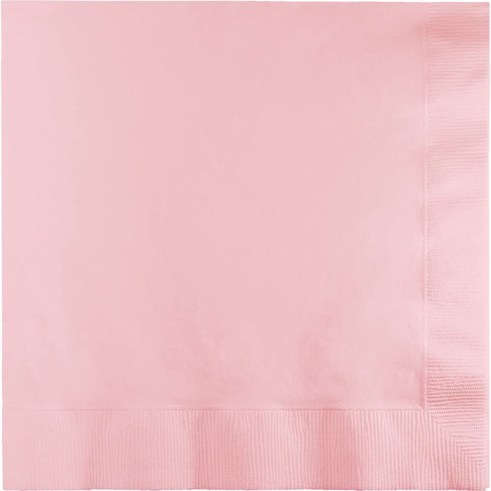 Creative Converting 240-Count Touch of Color Paper Cocktail Napkins, Classic Pink - 419528