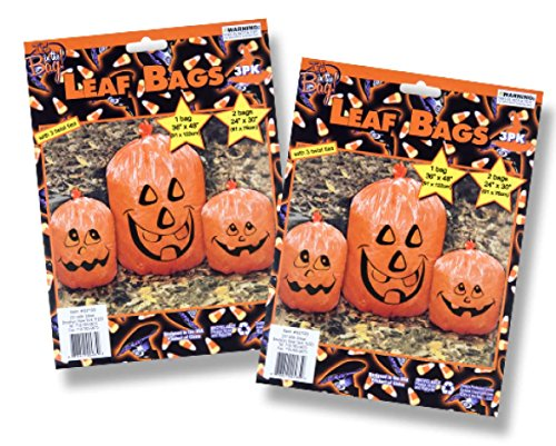 Halloween Debbie Costume (Halloween House Ghost Leaf Bags in Assorted Designs - 2)