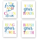 Sanrx Inspirational Quote Typography Art Painting Poster,Watercolor Motivational Letterings Cardstock Art Print for Girls Women Bedroom Home Wall Decor (Set of 3, 8'' x 10'',Unframed)..., Bathroom, 8 x 10 inch