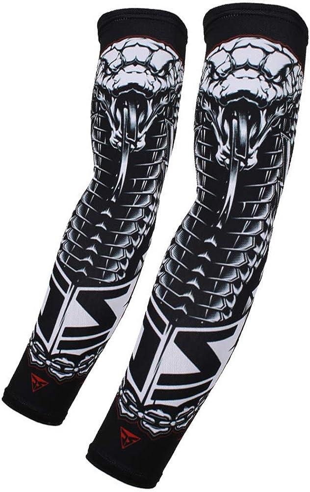 Unisex Compresi/ón Manga Del Brazo Impreso Protecci/ón UV Bloqueador Solar Brazo Tatuaje Cubierta Mangas Para Hombres De Las Mujeres