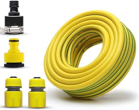 Manguera de Jardín HAIYU PVC de 1/2 Pulgada, Manguera de Agua Flexible, Tubería de Manguera Blanda de 12 mm para Jardinería/Riego/Lavado de Autos, con Kits de Conexión: Amazon.es: Hogar