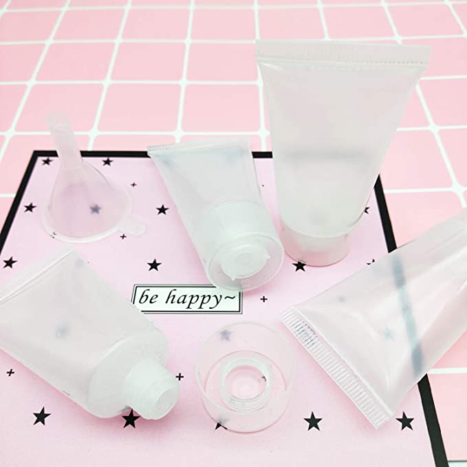 6 St/ück Kunststoff nachf/üllbar leer Kosmetikbeh/älter transparent