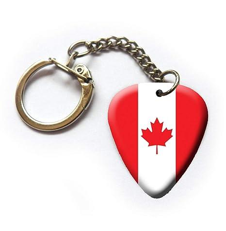 Llavero de púa de guitarra canadiense con bandera de Canadá ...
