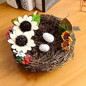 M-elegant Artificial Flowers Wedding Decorations Silk Bird Nest Fake Flowers Wedding Proposal Ring Tool 41