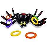 Joliyoou Halloween Ring Toss Game, Inflatable Spider Toss Game Halloween Party Favor