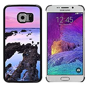 LECELL -- Funda protectora / Cubierta / Piel For Samsung Galaxy S6 EDGE SM-G925 -- Plant Nature Forrest Flower 83 --