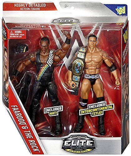 NATION OF DOMINATION (THE ROCK & FAAROOQ) - WWE ELITE FLASHBACK EXCLUSIVE 2-PACK MATTEL TOY WRESTLING ACTION FIGURES by WWE