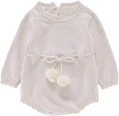 POLP niño Invierno Camiseta de Manga Larga para niños Otoño Invierno Mameluco de Punto Bebe Niña Pulóver Camisa de Fondo Jersey para niños Blusa Sudadera para Bebés Suéter Mono 6M-24Meses: Amazon.es: Ropa
