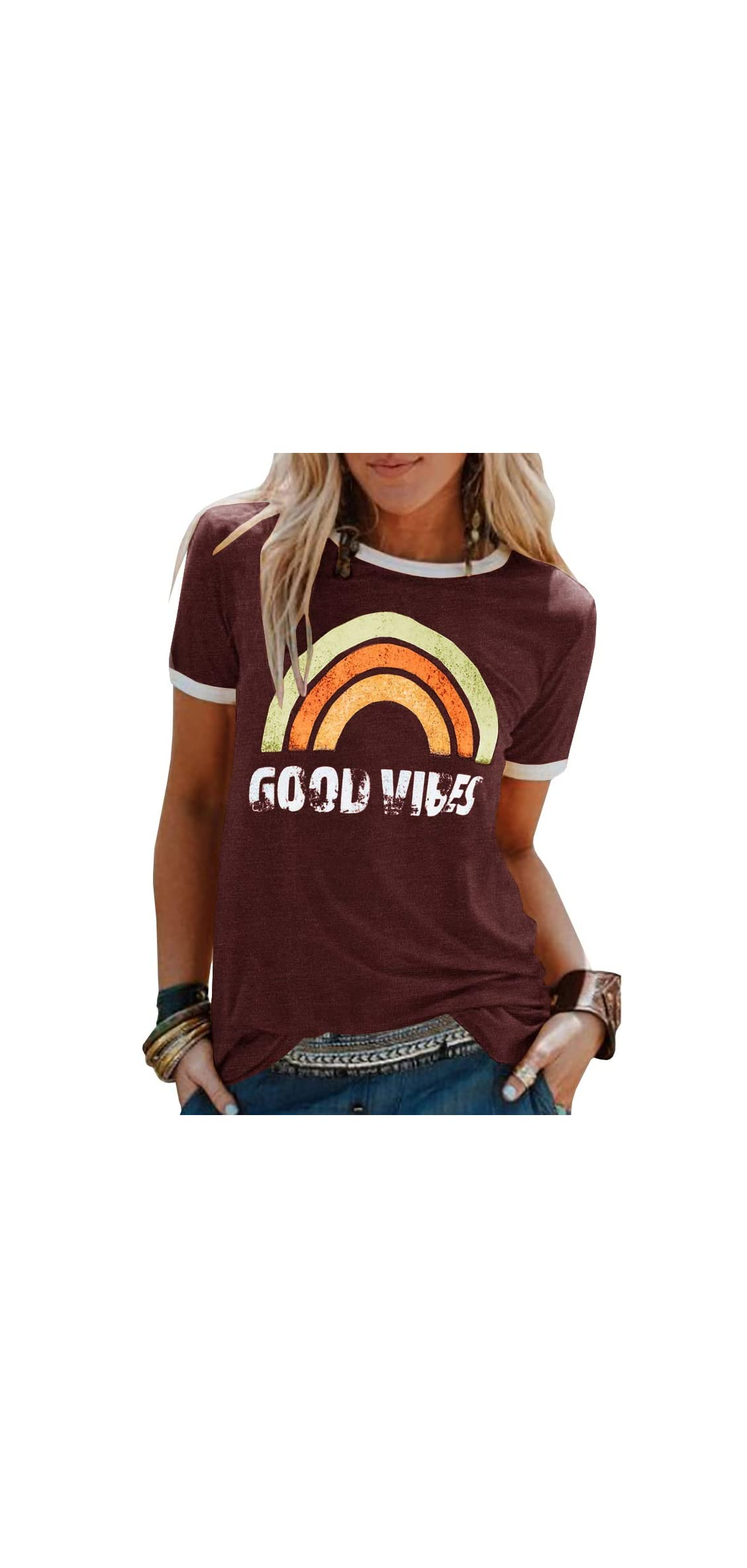 Womens Bring On The Sunshine Graphic Tees Letter Printed