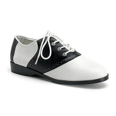 c7297669da2 Summitfashions Cute Saddle Shoe Womens Flat Shoes Sexy Flats Black White  Size  6