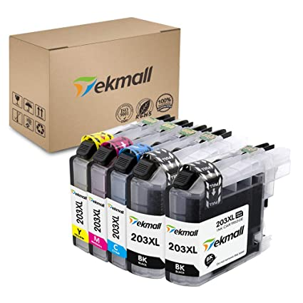 Tekmall Compatible Ink Cartridges Replacement for Brother LC203XL LC 203  for MFC-J485DW MFC-J480DW MFC-J885DW MFC-J460DW MFC-J880DW MFC-J680DW