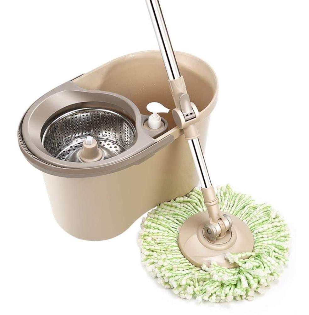 補助モップバケツ自動乾燥モップバケツ水回転家庭用手洗いウェットとドライスクイズバケツ自動ロータリーモップ B07SJGNGY6